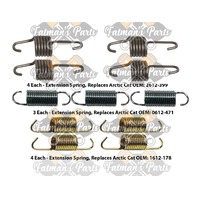 Snowmobile Exhaust Spring Replacement Kit for 2010-2011 Arctic Cat F8