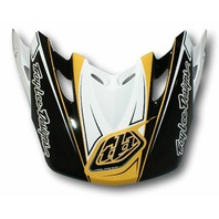 Troy Lee Designs TLD SE2 Replacement Visor - Mach White/Gold 1120-7000