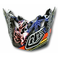 Troy Lee Designs SE2 Replacement Helmet Visor - Pistonbone Black 1122-6000