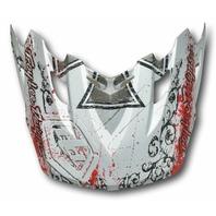 Troy Lee Designs TLD SE2 Helmet Visor - Crusader Silver p/n 1119-2100