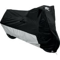 Nelson Rigg Deluxe Black/Silver Motorcycle Cover  - Medium