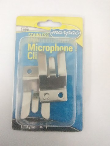 2PK Marpac EL020300 Microphone Clip Holder VHF Radio Stain Steel Boat Marine MD