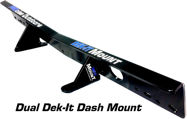 Procise DEK-IT-DM-BK Dek-It Deph Fish Finder Dash Mount 10Lx3.5Wx2.5H Black