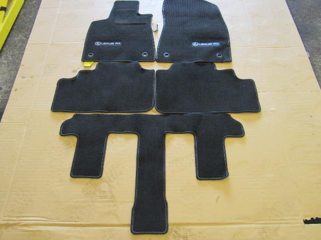18 Lexus RX450hL RX350 L floor mats, OEM black