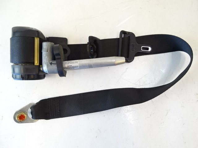 89 Mercedes W126 420SEL 560SEL seat belt, right front, black 1268604086
