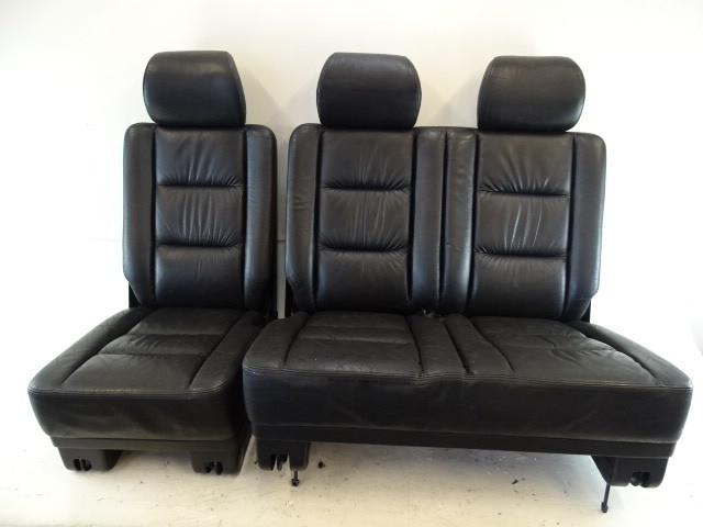 2000 Mercedes W463 G500 seats, rear, left and right, black