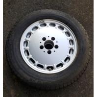 89 Mercedes R107 560SL wheel, 7x15 ET25, silver, 1264003002 w/tire