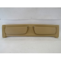 98 Lotus Esprit V8 trim, front header panel w/ sun visors tan leather