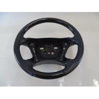 03 Mercedes R230 SL500 SL600 steering wheel, leather/wood, black