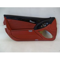 03 Mercedes R230 SL500 SL55 door panel, left, red/black