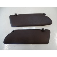 87 Mercedes W126 560SEC sunvisors, left and right, brown