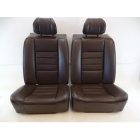 87 Mercedes W126 560SEC seats, rear, brown