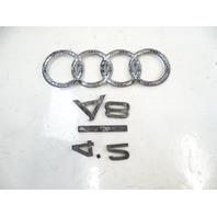 07 Audi D3 A8 emblem set, for trunk lid