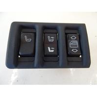 90 Mercedes W126 560SEL 420SEL switch set, left rear, window, seat heat 1267660791 w/trim