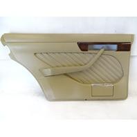 90 Mercedes W126 560SEL 420SEL door panel, left rear, beige