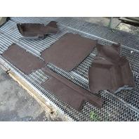 90 Mercedes W126 560SEL 420SEL carpet set, trunk, liners, brown brazil