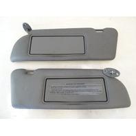 89 Mercedes W126 420SEL 560SEL sunvisors, left and right, gray