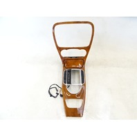 04 Mercedes R230 SL500 SL55 wood trim w/ ashtray, on center console 2306801539 walnut