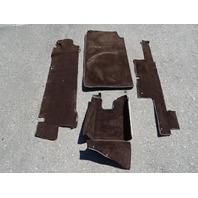 82 Mercedes R107 380SL carpet set, for trunk, brown