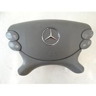 03 Mercedes R230 SL500 SL55 airbag, steering wheel, gray srs 2304600198