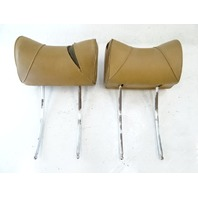 75 Mercedes R107 450SL headrest set, left and right, palomino