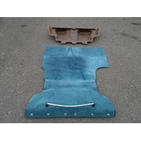 1985 Nissan Z31 300ZX carpet set, for trunk, blue