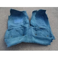 1985 Nissan Z31 300ZX carpet set, interior floor, blue