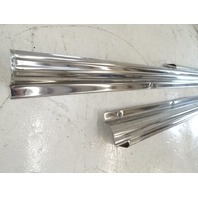 85 Mercedes R107 380SL trim set, door step sills, left / right, chrome