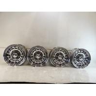 85 Mercedes R107 380SL wheel set, 6.5x14 1264002102 chrome