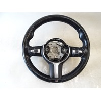 14 BMW F30 328i 328 steering wheel, leather, black 307661364001