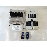 14 BMW F30 328i 328 module set, engine control, ecu dme w/ key 8617375