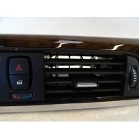 14 BMW F30 328i 328 ac vent, dash center, w / wood trim 921855215