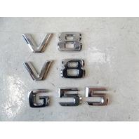 12 Mercedes W463 G550 G55 emblem set, V8 G55