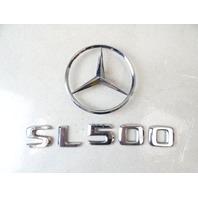 99 Mercedes R129 SL500 SL320 emblem set, SL500