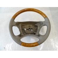04 Mercedes R230 SL500 steering wheel, leather/wood, beige