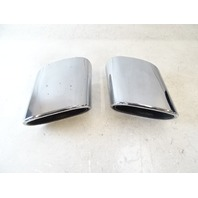 04 Mercedes R230 SL500 exhaust tips, set, left and right OEM