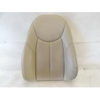 04 Mercedes R230 SL500 seat cushion, back, left, beige