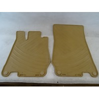 04 Mercedes R230 SL500 SL55 floor mats, all weather, rubber OEM Java 2306680008