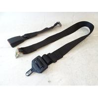 90 Mercedes W126 420SEL 560SEL seat belt, center rear, black 1268605786 w/buckle