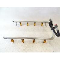 05 Porsche Cayenne 955 Turbo fuel injectors w/rail 028015602 7l5133942