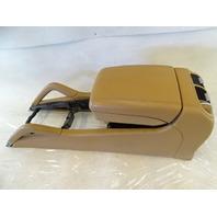 05 Porsche Cayenne 955 Turbo center console assembly w/ armrest 95555321300 7l5971641 beige