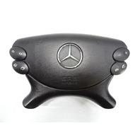 03 Mercedes R230 SL500 SL55 airbag, steering wheel, black srs 2304600398