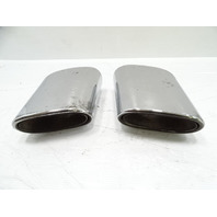 03 Mercedes R230 SL500 exhaust tips, set, left and right OEM