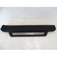 10-15 Lexus RX350 RX450h trim, door step sill scuff plate, black, left front, 67920-0e020