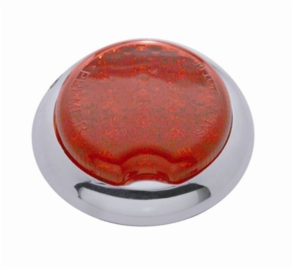 Pro One 402010 Red 3 Quot Flush Mount Round Dual Function Led