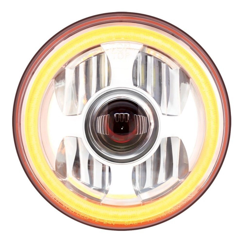 7 U0026quot  High Power Led Projection Headlight With Dual Function