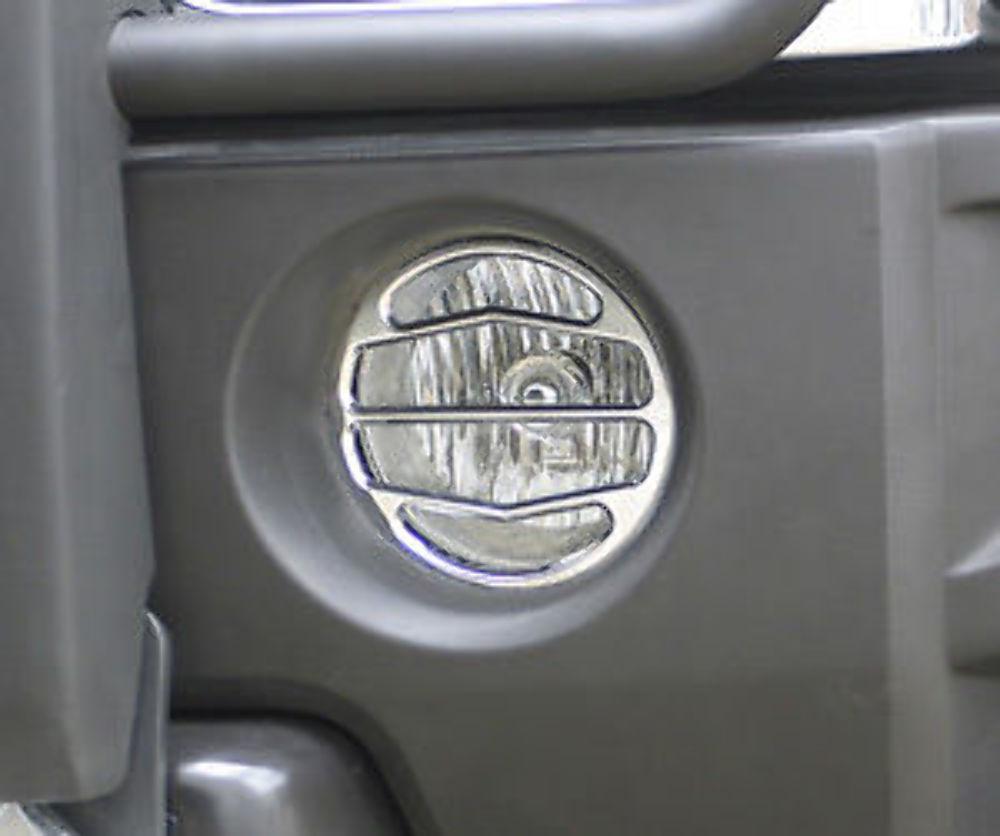 H30120SC 2006-10 Hummer H3 /& H3T Chrome Billet Driving Light Covers pr