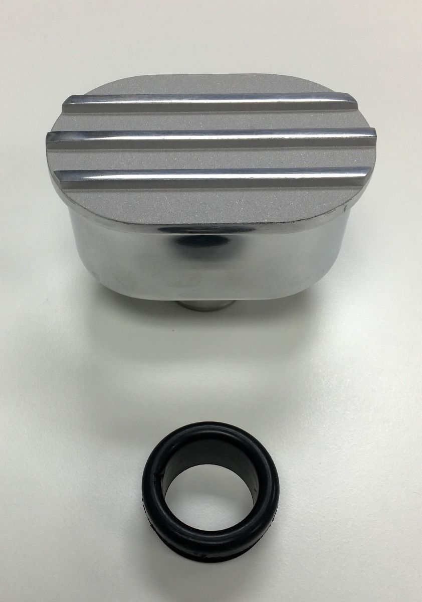 Pirate Mfg Hot Rod Polished Oval Satin Top Valve Cover Breather Kit W//Grommet SBC BBC V8