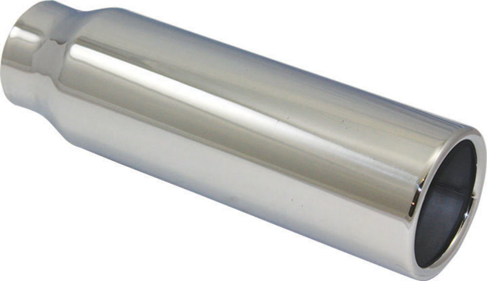 "Stainless Steel Exhaust Tip With Billet End 2.25/"" Inlet 3.5/"" OD Outlet 7/"" Long"