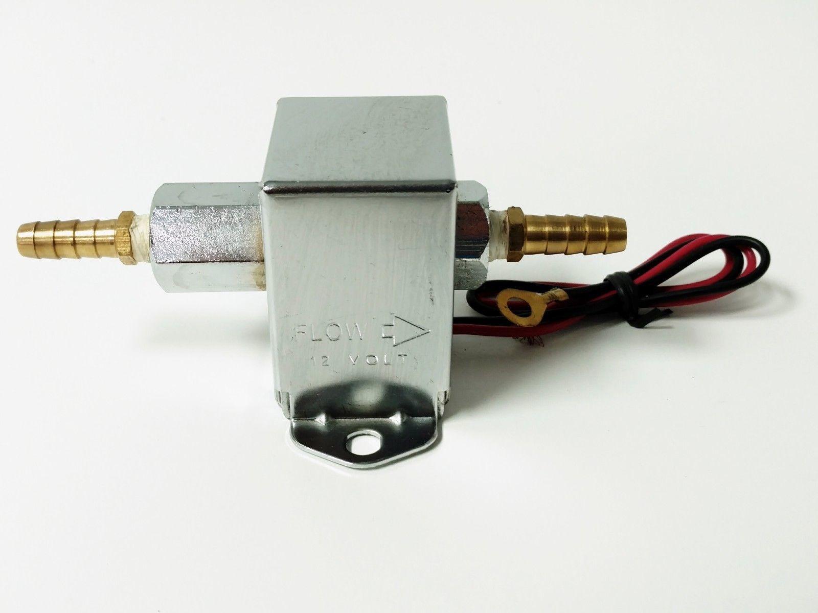Universal Chrome Square Electric Fuel Pump 4 7 Psi Hot Rat Street Rod Buggy
